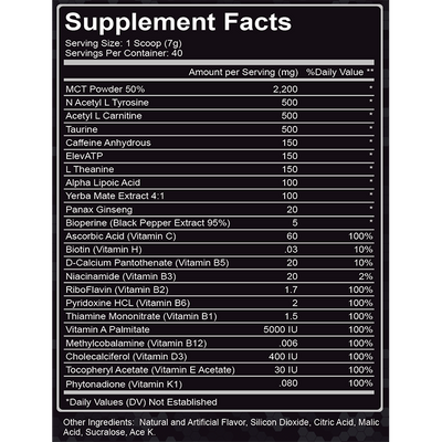 Blue Raspberry Endurance Formula - Energy, Alertness and Stamina Supplement (40 Servings)