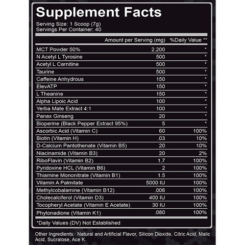 Endurance Formula - Energy, Alertness and Stamina Supplement