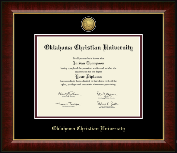 Church Hill Classics Engraved Diploma Frame, Gold