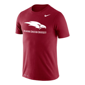 Nike Men's Dri-Fit Cotton Short Sleeve Tee, Crimson
