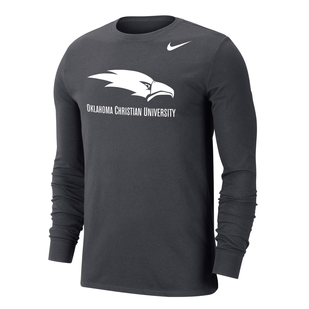 Nike Men's Dri-Fit Cotton Long Sleeve Tee, Anthracite