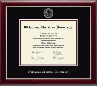 Graduation Embossed Diploma Frame, Silver