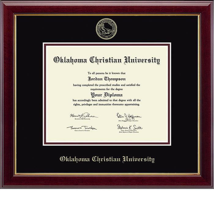 Graduation Embossed Diploma Frame, Gold