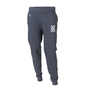 Russell Men's Fleece Joggers, Black Heather