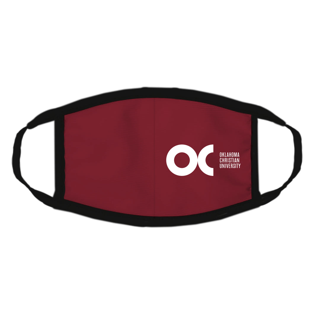 Spirit Apparel Newbury Face Mask, Crimson