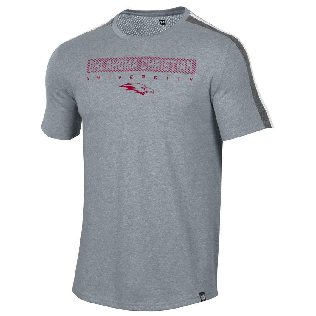 Under Armour Men's SMU Training Camp Short Sleeve Tee, Steel Heather