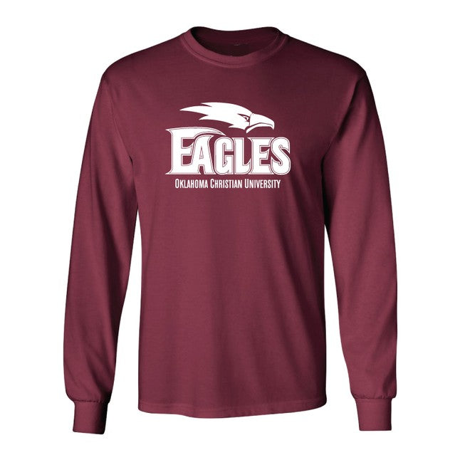 Core Cotton Long Sleeve Tee, Eagle, Crimson