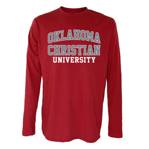 OnMission Long Sleeve Tee, Crimson