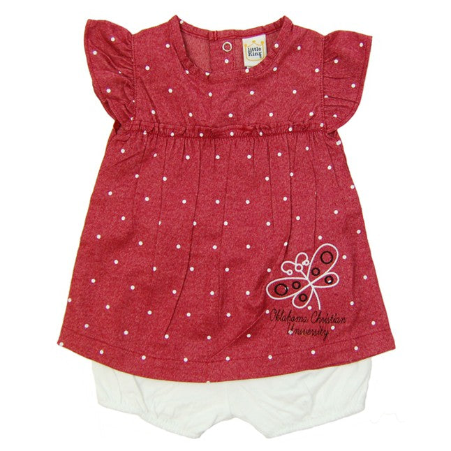 Little Kings 2 Piece Chambray Outfit, Red