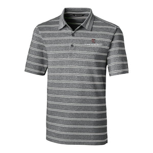 Cutter & Buck Men's Forge Polo Heather Stripe, Black