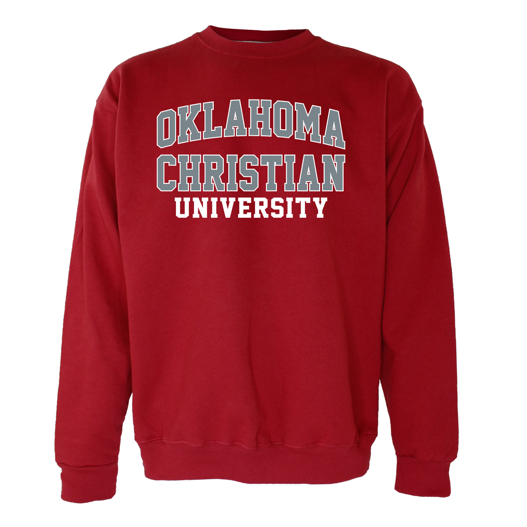 OnMission Crew Sweatshirt, Crimson