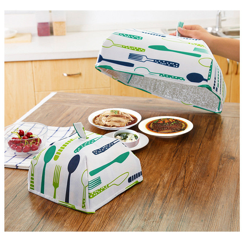 Foldable Insulated Food Cover Tent With Aluminum Foil Winter Hot Food Insulation Cover Keep Food Warm Keep Dust Bugs Ants Away