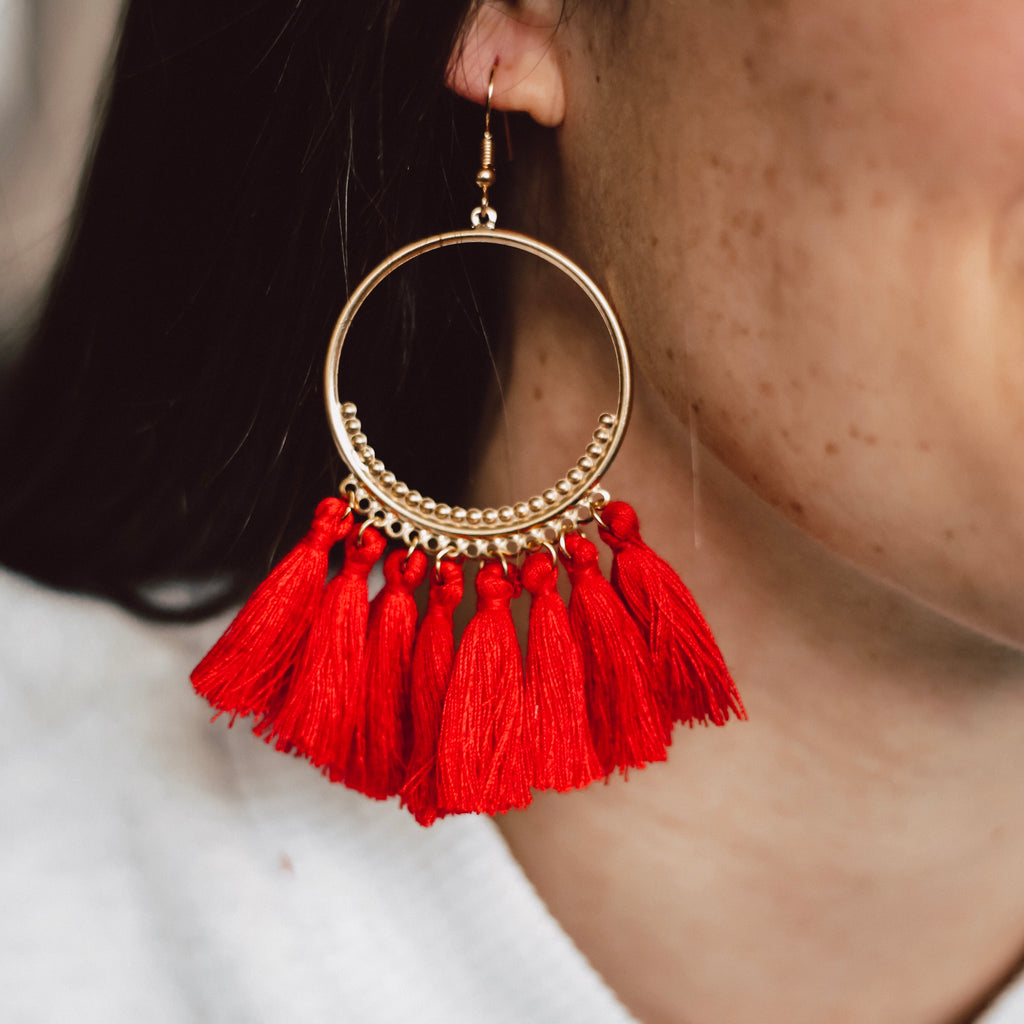 Christine Tassel Earrings