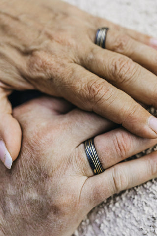 Wedding Bands on couple's hands