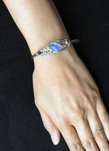 Elongated Pond Bracelet with tanzanite and diamonds