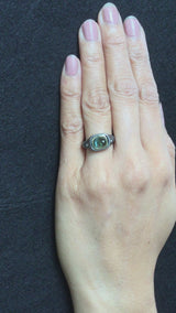 video of Mountain Plateau Ring with Green Tourmaline