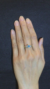 Double Band Blue Zircon Ring