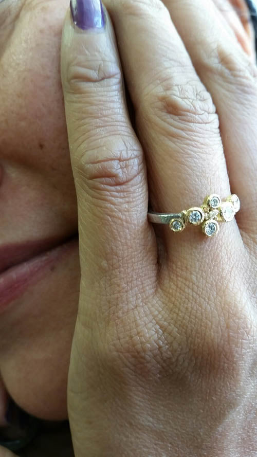 hand Babbling Brook Diamond Ring