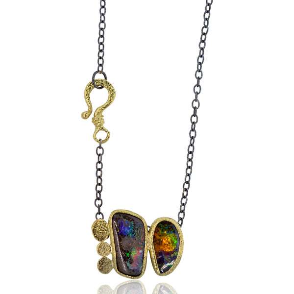 One-of-a-Kind Boulder Opal Duo Necklace