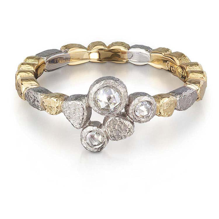 Skinny Pebbles Diamond Trio Ring