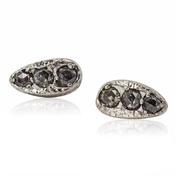 elongated puddle stud earrings