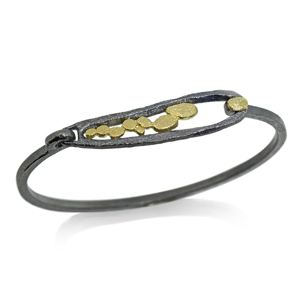 Elongated Pond Bracelet side view