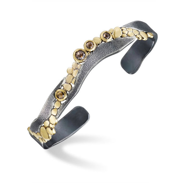 Wild River Cuff Bracelet with Cognac Diamonds
