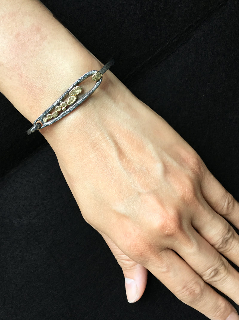 Elongated Pond Bracelet on wrist