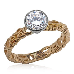 Effervescence Diamond Ring in 18k Rose Gold