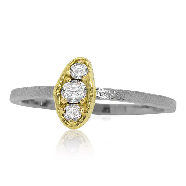 Puddle Diamond Ring in Two-Tone
