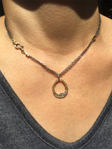 Water Drop pendant on neck