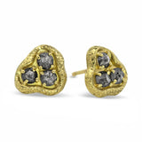 Amorphous Stud Earrings with diamonds