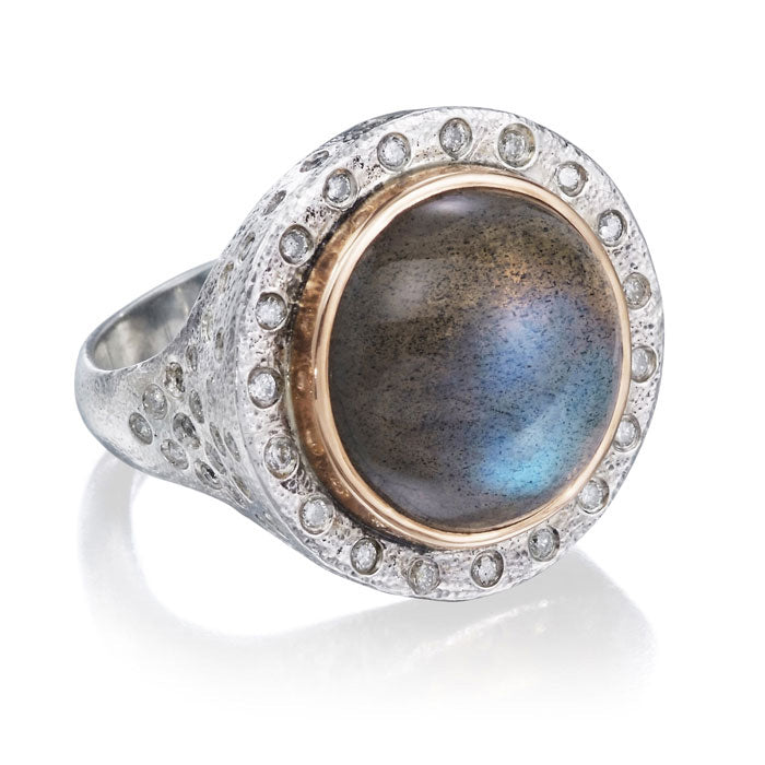 Arabian Nights Ring with Large Labradorite