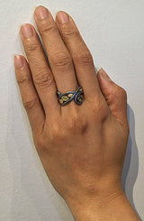 Swirl Ring on hand