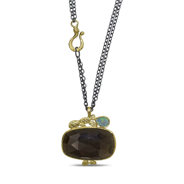Black Moonstone Pendant