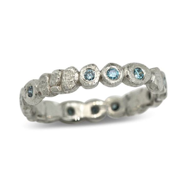 Rocky Stream Band with Blue Diamonds