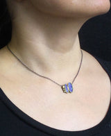 Boulder Opal Duo Necklace on neck