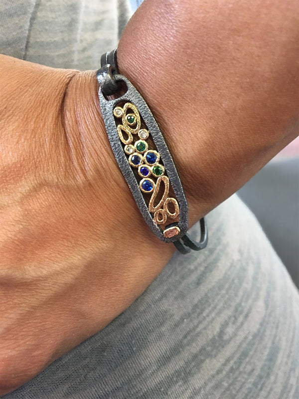 Ancient Loop Clasp Bracelet on wrist