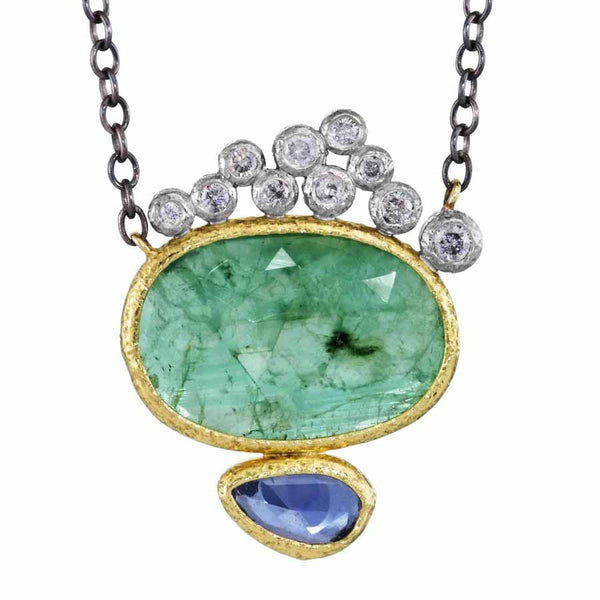 Emerald and Sapphire pendant