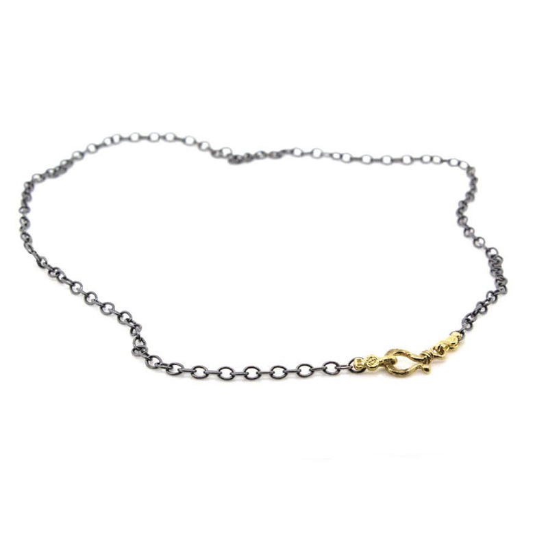 Cable Chain Necklace with Pebble Ends