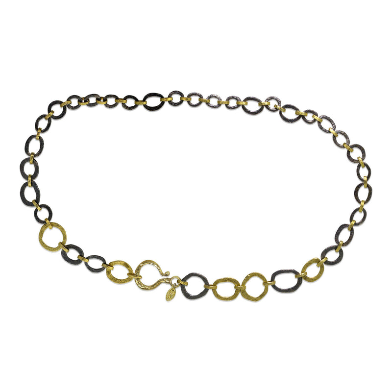 Open Pebble Chain Link Necklace