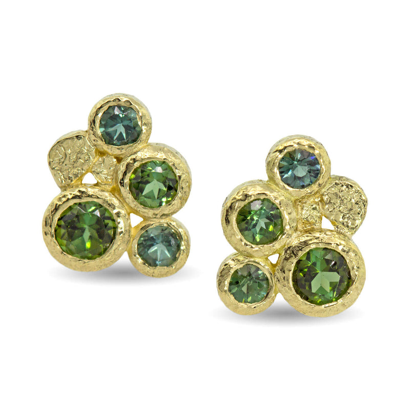 Green Tourmaline stud earrings