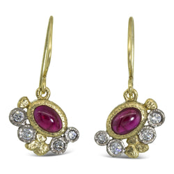 Custom Ruby Dangle Earrings