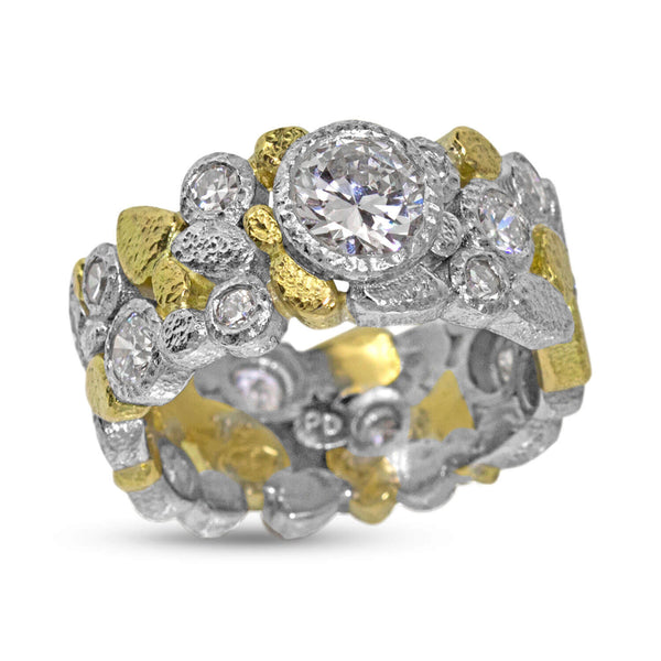 Custom Dancing Diamonds Ring