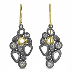 Open Cascading Pebbles Earrings