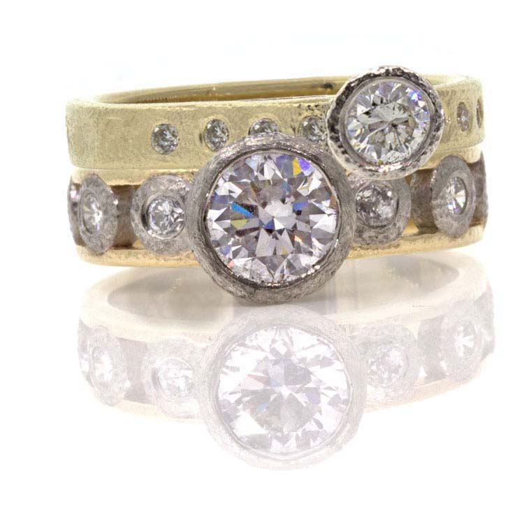 Custom Diamond Stacking Rings EK