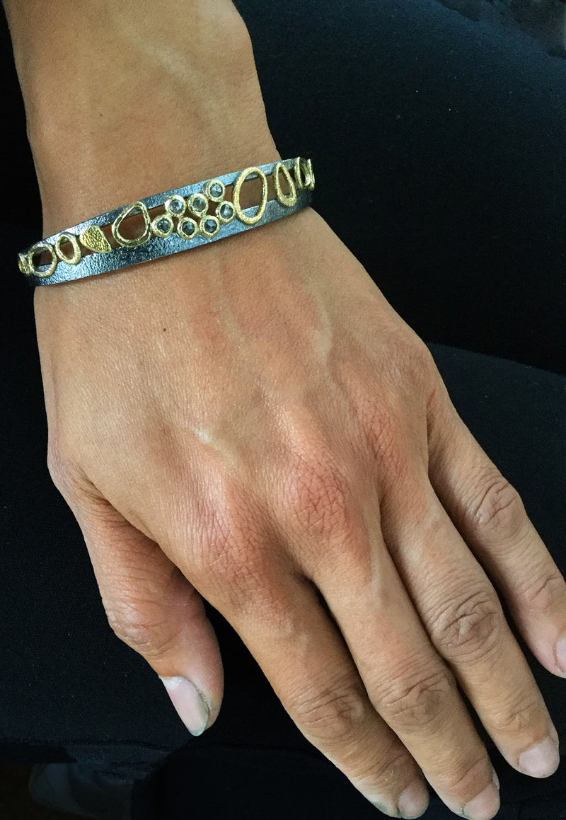 Double Cuff Diamond Bracelet