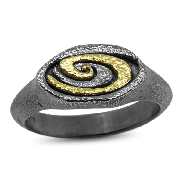 Double Oval Swirl Ring