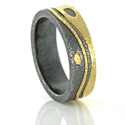 Wave and Pebble Band side