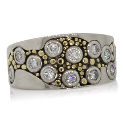 Custom River Pebbles Wedding Ring-front-SR